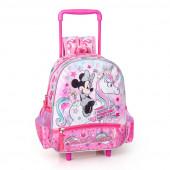 Mochila Trolley Pré Escolar 29cm Minnie I Believe in Unicorns