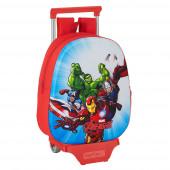 Mochila Trolley Pré Escolar Avengers 3D 33cm