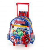 Mochila Trolley Pré-Escolar Avengers Marvel 29cm
