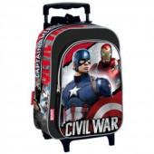 Mochila Trolley pre escolar Capitão America Civil War Justice