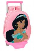 Mochila Trolley Pré Escolar Jasmine 3D 33cm