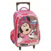 Mochila Trolley Pré Escolar Minnie com Glitter