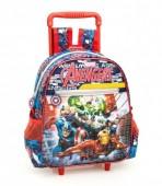 Mochila trolley pré-escolar premium 29cm Avengers power