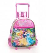 Mochila Trolley Pre Escolar premium Princesas Disney Pink