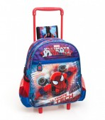 Mochila trolley pré escolar premium Spiderman Ultimate Tech