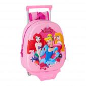 Mochila Trolley Pré Escolar Princesas 3D 33cm