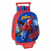 Mochila Trolley Pré Escolar Spiderman 3D 33cm