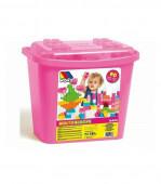 Molto Caixa de Construção 90 Peças Rosa