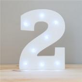 Número 2 Luminoso c/ Leds