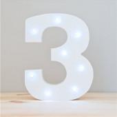 Número 3 Luminoso c/ Leds
