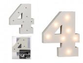 Número 4 Luminoso com Leds