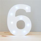 Número 6 Luminoso c/ Leds