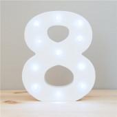 Número 8 Luminoso c/ Leds