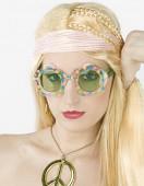 Oculos Hippie Flores Adulto