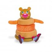 Oops Boneco Encaixe Madeira Urso