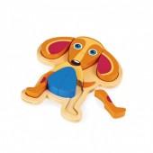 Oops Puzzle 3D Madeira 9 pçs Cão