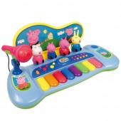 Órgão com personagens + microfone Peppa Pig