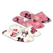 Pack 12 pares chinelos quarto algodão Disney Minnie
