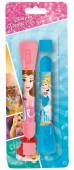 Pack 2 canetas com lanterna das Princesas da Disney