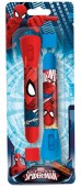 Pack 2 canetas com lanterna Spiderman