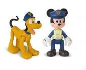 Pack 2 figuras Mickey + Pluto da Disney - Polícias