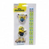 Pack 2 lápis + 2 borrachas Minions