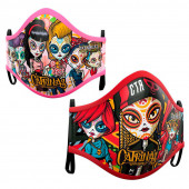 Pack 2 Máscaras Reutilizáveis Catrinas 10-12 anos