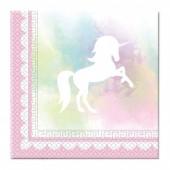 Pack 20 Guardanapos Unicórnio - Belive in Unicorns