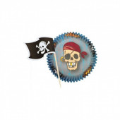 Pack 24 Formas de Papel Cup Cake Piratas Wilton