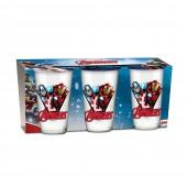 Pack 3 copos de vidros - Avengers