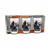Pack 3 copos de vidros - Star Wars