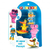 Pack 3 Figuras Banho Pocoyo