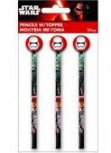 Pack 3 Lápis c/ borracha Star Wars - Disney