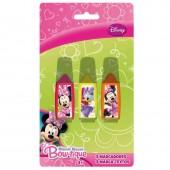Pack 3 Marcadores Minnie Disney