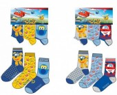 Pack 3 meias dos Super Wings - sortido