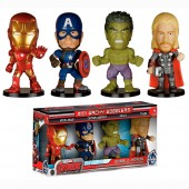 Pack 4 mini cabeçudos Avengers Marvel Age of Ultron