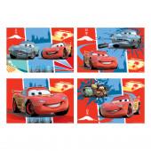 Pack 4 Puzzles Brinde Cars