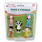 Pack 5 Figuras Colecionáveis Panda e os Caricas