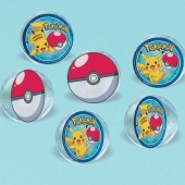 Pack 6 bolas saltitonas Pokémon 4cm