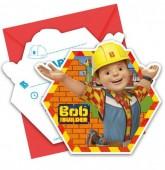 Pack 6 convites Bob Construtor