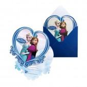 Pack 6 Convites Festa Disney Frozen