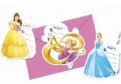 Pack 6 convites  Princesa Bela Disney