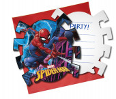 Pack 6 convites Spiderman Team Up