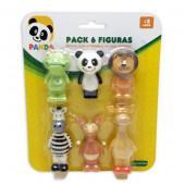 Pack 6 Figuras Colecionáveis Panda