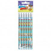 Pack 6 Lápis com Borracha SuperZings