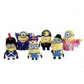 Pack 6 Peluches Minions T3 sortido