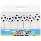 Pack 6 velas de futebol