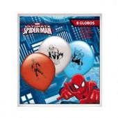 Pack 8 Balões festa Spiderman cores sortidas