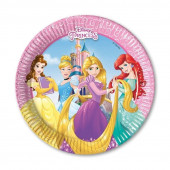 Pack 8 Pratos Festa Princesas Disney 19cm - Heart Strong