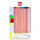 Pack 9 lápis de cor Lego + 2 Toppers